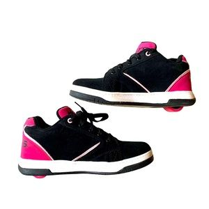 Heely's black/pink Sneaker Top Lace Up Size YTH 6